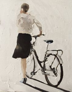 Woman Bicycle Painting Woman Bicycle Art PRINT Woman Walking With Bicycle Art Print from original painting by J Coates - Womens Bicycle - Ideas of Womens Bicycle - Woman Bicycle Painting Woman Bicycle Art PRINT Woman Walking Cycle Drawing, Life Drawing, Art Sur Toile, Bicycle Print, Bicycle Design, Bicycle Painting, Bicycle Women, Cycling Art, Cycling Quotes