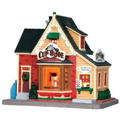 Make 2018 a year to remember with the latest Lemax holiday village collectables. Start a family Christmas tradition with Lemax Village Collection today! Village Lemax, Vail Village, Lemax Christmas Village, Christmas Farm, Christmas Villages, American Sales, Ceramic Houses, Christmas Traditions, Coffeehouse