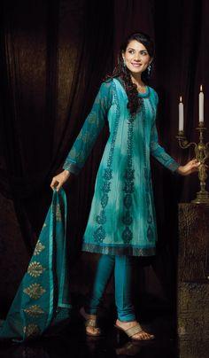 Blue-Cotton Indian-Salwar-Kameez