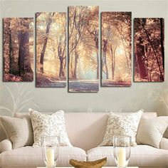 Wall Art Canvas Painting Printed Landscape Autumn Leaves Modular Pictures Posters Home Decoration For Living Room No Framed. Category: Home & Garden. Subcategory: Home Decor. Deco Design, Home And Living, Wall Decor, Wall Art, Wall Murals, Living Room Decor, Living Rooms, Bedroom Decor, Diy Home Decor
