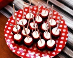 Double-Dipped Mallow Pops - use candy melts in party theme colors, or in school colors!