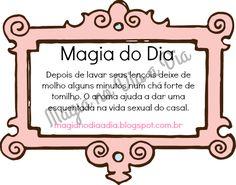 Magia no Dia a Dia: Magia do Dia: tomilho