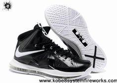 Discount Nike Lebron X (10) Black White Style 541108-010 Shoes Shop
