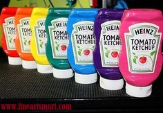 E se mettessimo i colori acrilici nelle bottiglie vuote di ketchup?!  Follow us on Tumblr! STAY FAM!