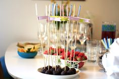birthday cake pops with candles
