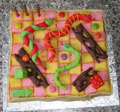Snakes and Ladders cake