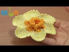 ▶ Crochet Narcissus Flower How to Tutorial 65 Part 1 of 2 Crochet 3D Center With Spirals - YouTube