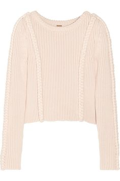 Adam Lippes cropped chunky-knit cotton-blend sweater, $690