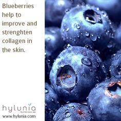 Blueberries help strengthen collagen!