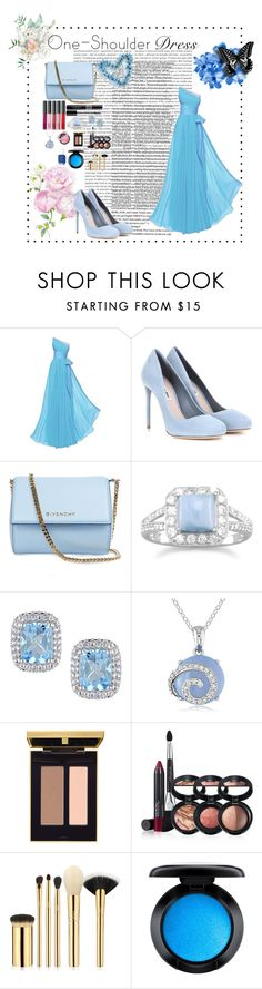 """""""The Evening Out"""" by yulia8us ❤ liked on Polyvore featuring Oris, Miu Miu, Givenchy, Christian Dior, BillyTheTree, Ice, Laura Geller, tarte, MAC Cosmetics and Essie"""