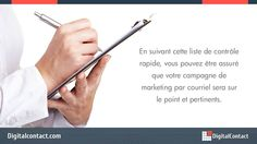 http://DigitalContact.com - Jetez un oeil à quelques-unes des erreurs désastreuses email marketing font qui sont totalement ruinent leurs campagnes d'email.  Envoyez jusqu'à 12.000 courriels par mois! Aucun contrat ou carte de crédit requis. Obtenez un compte gratuit - http://DigitalContact.com