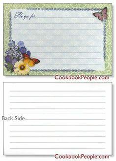 Recipe Card 4x6 - Botanical Blue - The Cookbook People