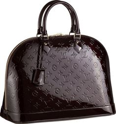 Louis Vuitton Monogram Vernis Alma MM Handbag Amarante. I get so many compliments on this bag.