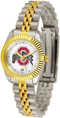 Ohio State Buckeyes Suntime Ladies Executive Watch - NCAA College Athletics by Sun Time/Links Warner. $139.95. A timepiece as classic as the game itself. Our Executive timepieces offer a more formal look, with Colorado State Rams team logo on the watch face and is beautifully represented with raised 23-kt gold and is accented by a fluted gold-toned bezel. Features include: Date Function, the solid link bracelet strap features two-tone styling in 23-kt gold and stainless st...