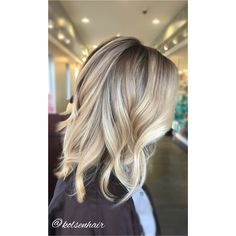 Balayage Ashy blonde with a shadowed root