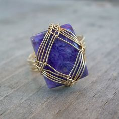 Charoite ring | Charoite cabochon with with gold filled wire… | Tamara McFarland | Flickr