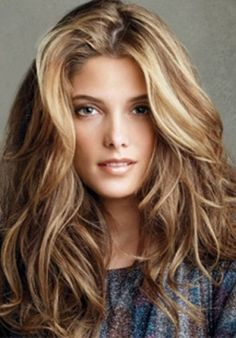 Brown Hair Dramatic Blonde Highlights::