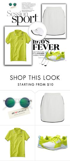 """golf wear"" by mayang-muchtar on Polyvore featuring H&M, VILA, Aéropostale, Puma and NIKE"