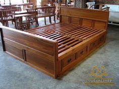 Jual Tempat Tidur Minimalis Bathroom Furniture Storage, Wood Doors Interior, Wooden Bed Design, Furniture, Bedroom Bed Design, Bed Design, Home, Bedroom Design, Modern Bed
