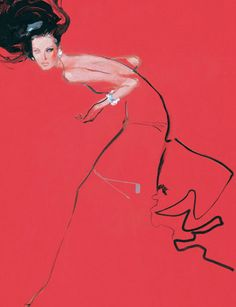 DAVID DOWNTON // Fashion Illustration- these pieces are friggin amazing- not forced, very free-flowing, organically elgant