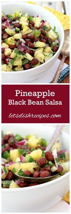 Pineapple Black Bean Salsa Recipe | So refreshing and perfect for summer!