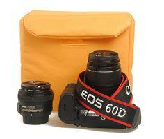 Small/Medium DSLR Camera Bag Insert with Padded Velcro Flap - Handbag Dividers - Removable Insert Bag - Adjustable Dividers 407