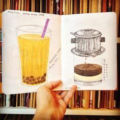 Have you had your coffee or tea this morning? If not, then get inspired by this spread. Get started on your own book at www.sketchbookproject.com/participate