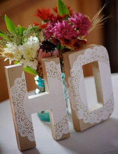letras rendadas diy