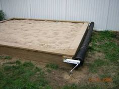 seems like a good idea for a sandbox cover - like a pool