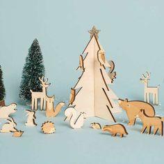 Woodland Forest Wooden Advent Calendar