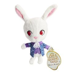Disney Alice in Wonderland Baby White Rabbit Plush Figure by Jakks Pacific ($13 at Toysrus.com) - The Disney Alice in Wonderland plush collection features the characters depicted as stylized plush. The soft plush characters are outfitted in detailed fashions as depicted in Disney's Alice Through the Looking Glass. McTwisp the White Rabbit resembles his younger self when Alice travels back in time. There are 5 characters to choose from: Cheshire Cat, White Rabbit, Red Queen, Mad Hatter and…