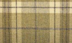 Attadale Tartan Fabric A tartan woven fabric in shades of green and blue checks.