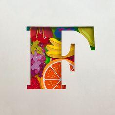 Il lettering di carta di Sabeena Karnik - Frizzifrizzi