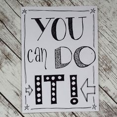 You can do it - handlettering Tabby Kittens For Sale, Kitten For Sale, Doodle Quotes, Art Quotes, Silver Tabby Kitten, How To Write Calligraphy, Calligraphy Quotes, Calligraphy Letters, Bullet Journal Quotes