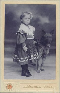 Vintage Doggy: A Little Girl and her Dog from Limbach.