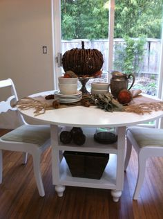 diy KITCHEN TABLE This woman made her own version of the pottery barn table I love! .