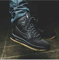 Black Nike LF1with the gum bottom