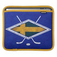 Swedish Sverige Ice #Hockey iPad Case Sleeve, custom made by Rickshaw Bagworks in San Francisco. #sverige #ishockey