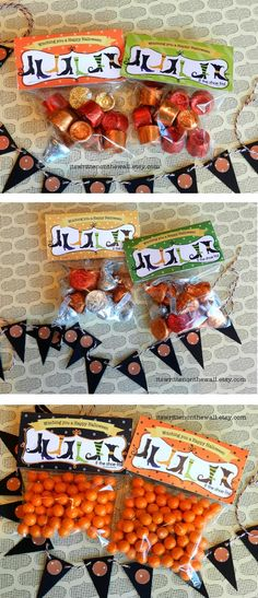 Printable Halloween Treat Bags by Whipperberry - such a fun idea for - halloween gift bag ideas