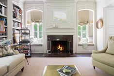 See the stunning fireplace mantels in these luxury homes for interior design inspiration.