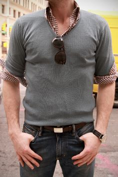 More guys should dress like this. from The Style Blogger. He rocks.