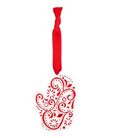 Look what I found on #zulily! Red & White Porcelain Ornament - Set of Six #zulilyfinds