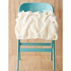 White as Snow Cable Knit Throw | AllFreeKnitting.com