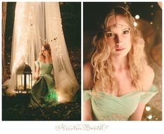 A magical shoot in the woods at night. For, twinkle lights, candles, and all things magical and dreamy. Inspiration for a night wedding or engagement.