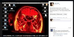 """It Is What You See. Self-Portrait MRI 3-D Brain Image, Popularly Known As The 'Flying Holiday Ham"""""""