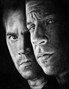 Paul Walker & Vin Diesel as characters from The Fast And the Furious movies. Paul Walker The Fast And the Furious Movie Fast And Furious, The Furious, Furious Movie, Art Drawings Sketches, Pencil Drawings, Pencil Art, Paul Walker Movies, Pencil Portrait Drawing, Celebrity Drawings
