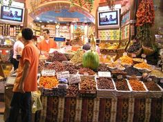 Spice Bazaar -- you can get all sorts of spices, fruits, and nuts there, as well as some very cool ceramic.