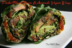 Fiesta Black Bean Vegan Wrap