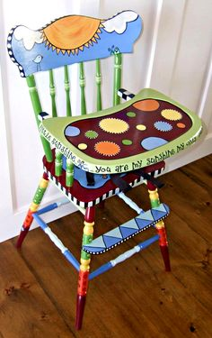 So doing something like this with my old high chair