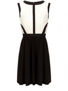 Naf Naf Black and white dress